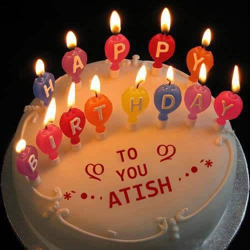 Birthday Cake Images With Name Ankit : Happy Birthday Atish