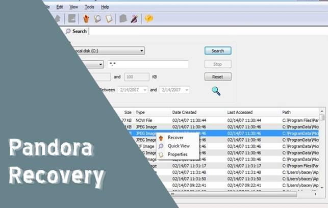 pandora-recovery