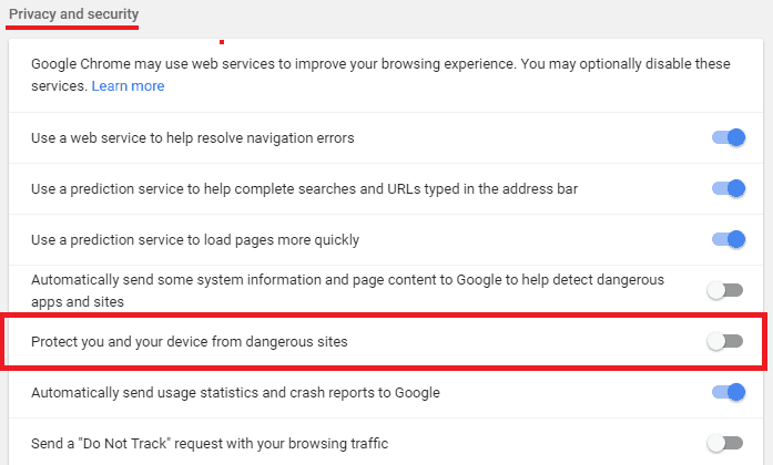 google-safesearch-disable